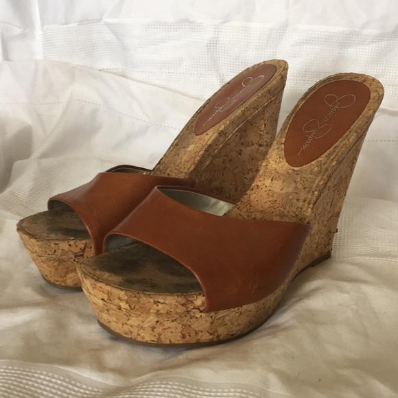 Jessica Simpson Shoes Wedge Mules Poshmark